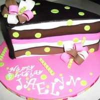 Cake Slice Cake That I Did For My Niece That Turns 12 Today Chocolate Cake Chocolate Buttercream Filling Chocolate Ganache Under The Fon Cake slice cake that I did for my niece that turns 12 today. Chocolate cake, chocolate buttercream filling, chocolate ganache under the...