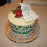 Run For The Roses! I made this cake for a fan of the Kentucky derby a couple of years ago. The cake is covered in modeling chocolate and has gumpaste roses on...