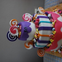 Candy Cake This cake was made for the 30th birthday of a girl that loves candy. It was a surprise party and the cake was the highlight of the party....