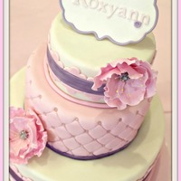 Baby Shower Pink Fantasy Flower Baby Shower Pink Fantasy FlowerWhoa! I needed the help of 3 people in baking, prep and even making the flowers - Thank you! Yellow Almond...