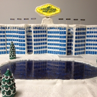 Holidays At Goodyear Tire And Rubber This cake is the only model ever made of Goodyear's New World Headquarters in akron, ohio. It sits on a base that is 4' Square...