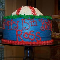 Ross A yellow cake with buttercream.