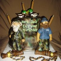 Duck Dynasty   *Duck Dynasty cake with Si and Jase!