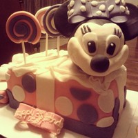 Birthday Photos Minnie Mouse 3D Lemon Cake