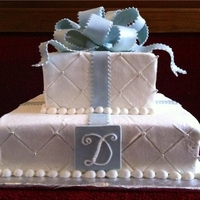 Ribbon Sparkle Buttercream cake with fondant ribbon and bow