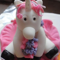 Unicorn Cake   My interpretation of a Unicorn...made from fondant.