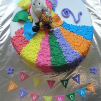 Unicorn Cake With Fairy Door ....   Vanilla Cake covered in fondant ..all decorations edible..including the bunting.