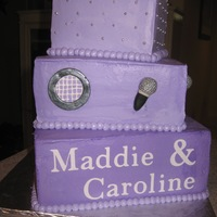 "Karoke 13Th Birthday Party I used the new 'sugar sheets' in the Cricut machine to get the letters; the ""speaker"" and microphone are fondant and..."