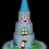 Cinderella Castle Cake For my daughter's 3rd birthday....all about Cinderella! Fondant covered with gumpaste accents and character toys. TFL!