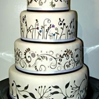 December Wedding Handpainted designs on fondant