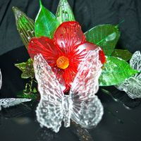 Isomalt Flower And Butterfly