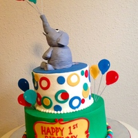 Buttercream With Rice Cereal And Fondant Elephant buttercream with rice cereal and fondant elephant