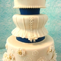 Old, New, Borrowed, Blue I was inspired to make this cake by a picture of a couture wedding dress I saw online - it had a very interesting texture on the skirt,...