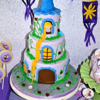 Rapunzel Cake   Made this for my daughter's 3rd birthday. it's part of the dessert table