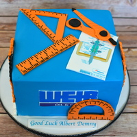 Retirement Cake For An Engineer Retirement cake for an engineer.