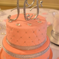 Engagement Cake To Match Bride's Outfit