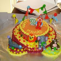 Circus Cake My 2-year old's circus themed birthday cake. Thanks for all the CCers whose inspiration helped me to make this cake. TFL!