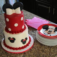 Minnie Mouse Cake This cake was for my son's girlfriend on her 18th birthday- she (and her family) are HUGE Disney fans! After I realized I had sold my...