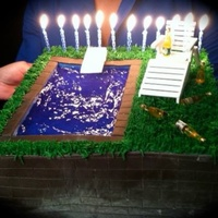 Built In Pool Birthday Cake Built In Pool Birthday Cake