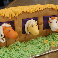 Pony Barn Pony Barn cake from Debbie Brown's 50 Easy Party Cakes.