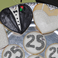 25Th Wedding Anniversary Cookies Cookies for 25th Wedding Anniversary
