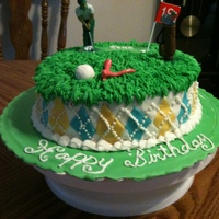 Golf Cake My uncle liked the golf cake I made for the school, he wanted one for this birthday!