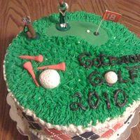 Golf Cake I made this cake for our High School Golf Team's end of season party. All buttercream w/ diamon patterns of fondant. Golf tees and...