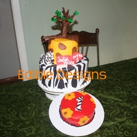 Animal Print   Tree made out of molding chocolate giraffe