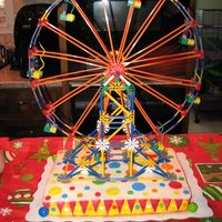 K'nex Ferris Wheel This was for my cousin's birthday, he LOVES k'nex so this is what I came up with for him. The gumballs were ripped off within...