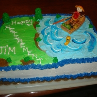 Retirement Cake Theme Retirement Fishing Cake