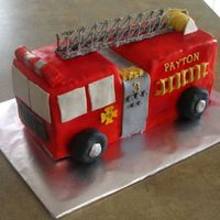 Fire Truck This is all fondant with RI accents. SO much fun!