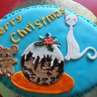 Cat & Mouse With Christmas Pudding