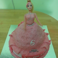 Doll Cake Doll cake in Pink