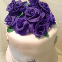 Purple Rose And Silver Star Quince Cake