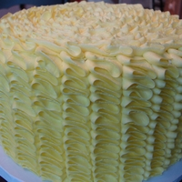 Yellow Buttercream Ruffle Cake tip 104