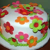 Flowers For Baby Shower Made for a colleague's baby shower. Chocolate cake with buttercream filling. Flowers are fondant and royal icing. I based the design...