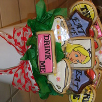 Alice In Wonderland Tea Party Cookie Bouquet   Alice in Wonderland tea party cookie bouquet.