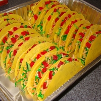 Chocolate Candy Tacos Here's some tacos I made for a family reunion. I got the idea from the Wilton website and just changed it up my way. Chocolate shell w...
