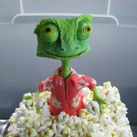 Rango Rice treat with modeling chocolate.