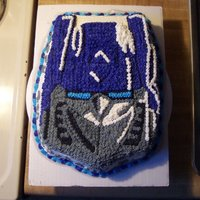 Birthday Cake i made this for one of my boys birthdays using the wilton transformers cake pan