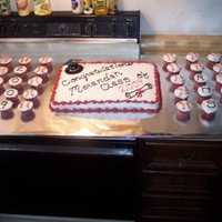Cake And Cupcakes I Did For Our Babysitters H.s. Graduation Party