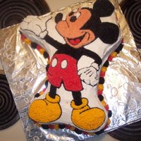 Sons Birthday wilton mickey mouse cake pan for one of my munchkins.