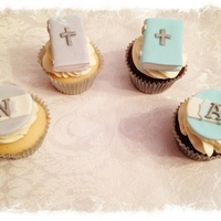 First Communion Cupcake Toppers For My Son And Niece   First communion cupcake toppers for my son and niece.