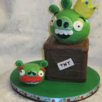 An Angry Birds Cake For My Sons 7Th Birthday   An Angry Birds cake for my son's 7th birthday.