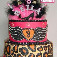 "Rocker Girl Birthday Cake A cool rocker-girl themed birthday cake. Cake is an 8"" on a 10"", which is covered in buttercream with buttercream decoration...."