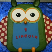 Owl First Birthday The design of this cake was based on the invitation. Iced with Buttercream all accents are fondant.