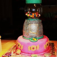 Gumball Machine With Rhinestones   bejeweled with non-edible rhinestones :)