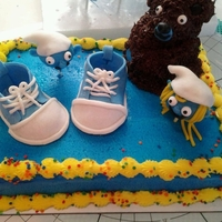 Smurf For Charli white cake , chocolate cake, mmf , bc,and cake pops , first try at baby converse, hope you enjoy