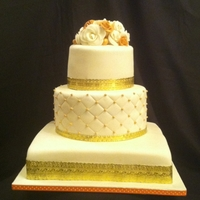 Ivory And Gold Wedding All vanilla and almond flavours,with a buttercream filling.