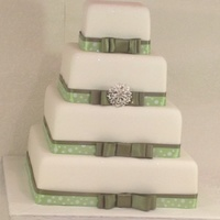 Green Ribbon Dummy cake made for a display